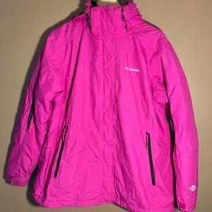 Columbia Omniheat Interchange pink hooded jacket